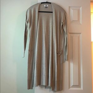Old Navy oatmeal tan duster cardigan, size S